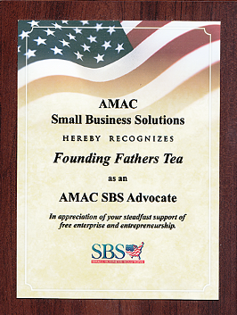 AMAC Small Business Solutions Hereby Recognizes Founding Fathers Tea as an AMAC SBS Advocate